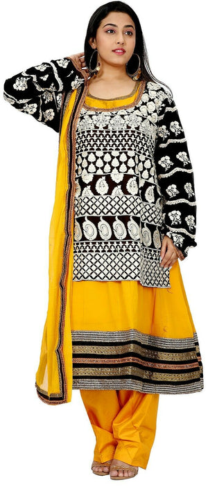 Yellow Salwar Kameez for Women | Designer Partywear Dress for Women