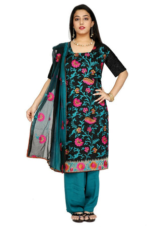 Load image into Gallery viewer, Black and Blue Salwar Kameez for Women | Designer Partywear Dress for Women