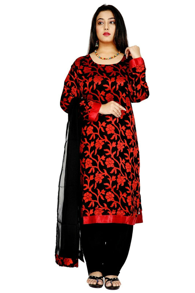 Black and Red Salwar Kameez for Women | Designer Partywear Dress for Women