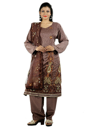 Load image into Gallery viewer, Brown Salwar Kameez for Women | Designer Partywear Dress for Women