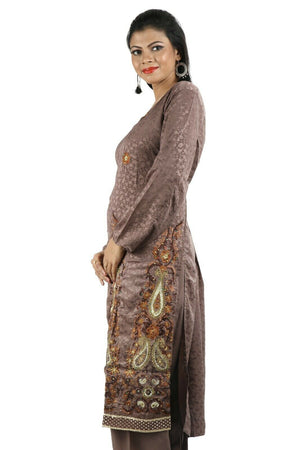 Brown Salwar Kameez for Women | Designer Partywear Dress for Women