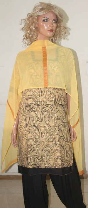 Load image into Gallery viewer, Beige  Salwar Kameez Chest size  38