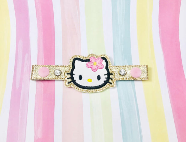 H Kitty Applique Snap Extender
