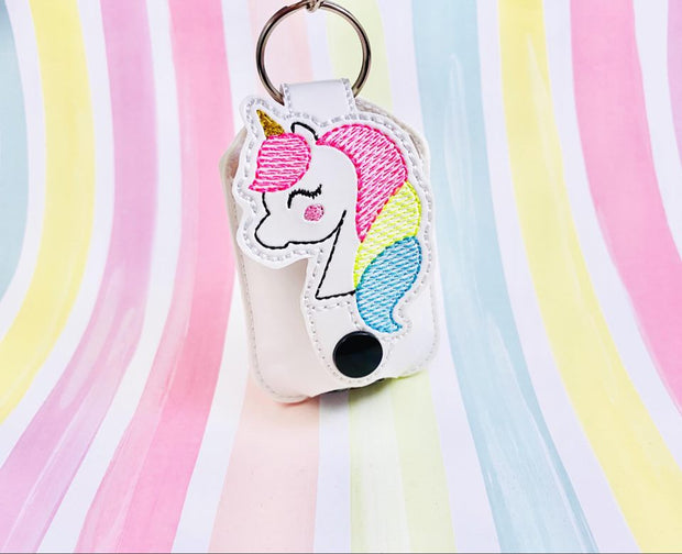 Sketchy Unicorn 1oz Applique Sanitizer Holder