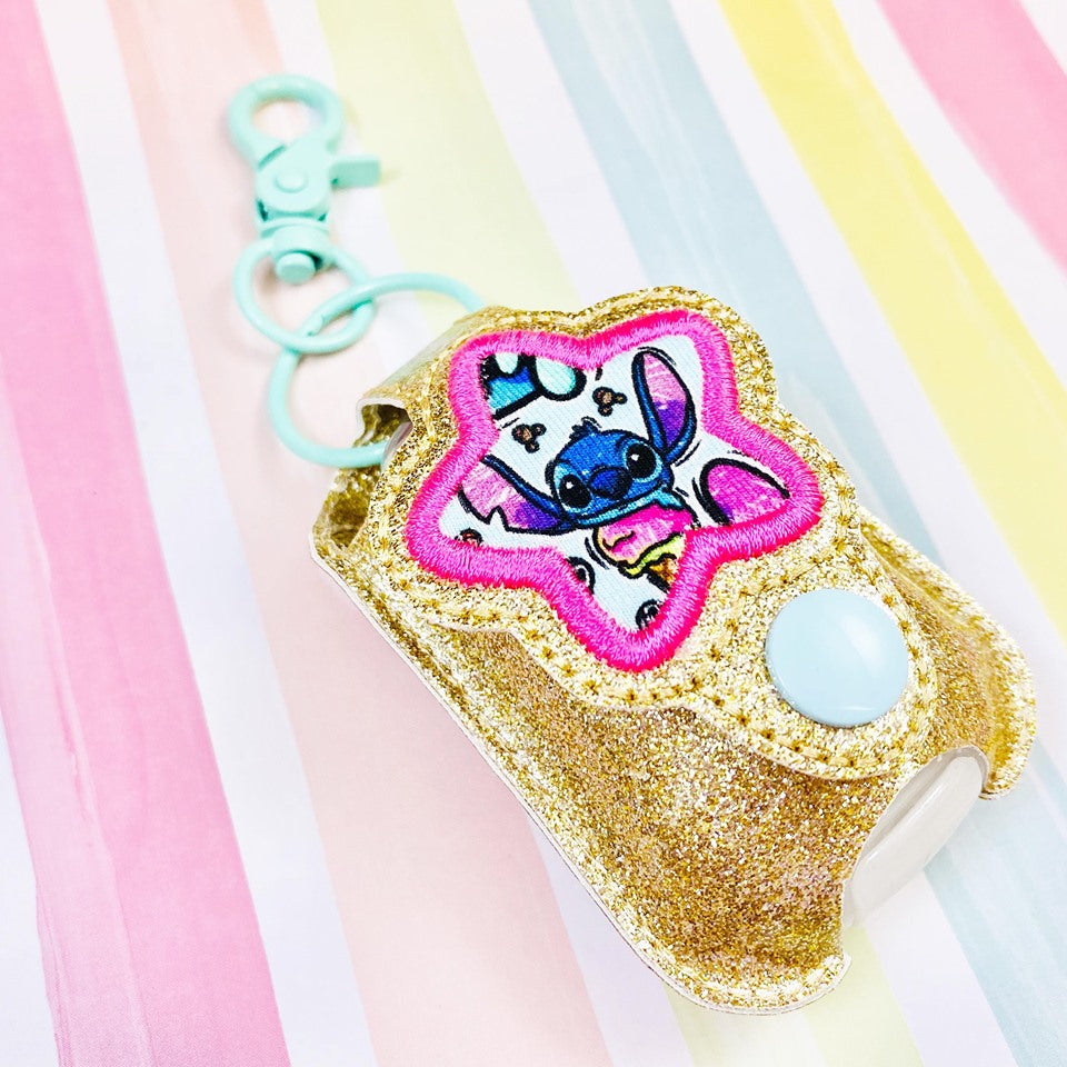 Bubble Star Applique Sanitizer Holder- Read Description
