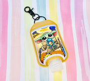 Man 2oz Applique Sanitizer Holder