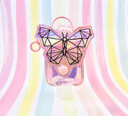 Geo Butterfly 2oz Applique Sanitizer Holder