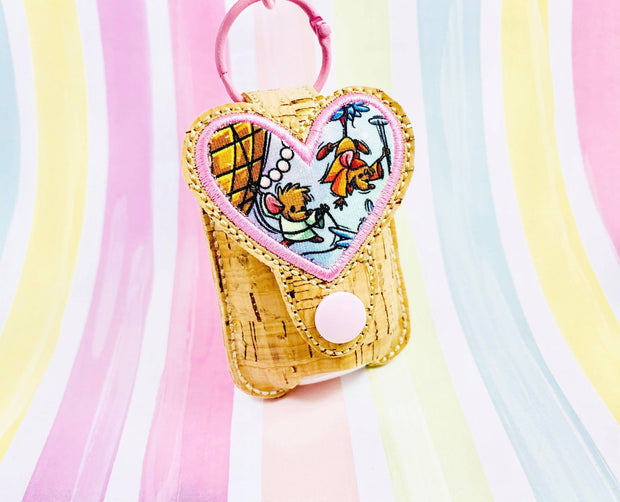 HD Heart Applique 1oz Sanitizer Holder