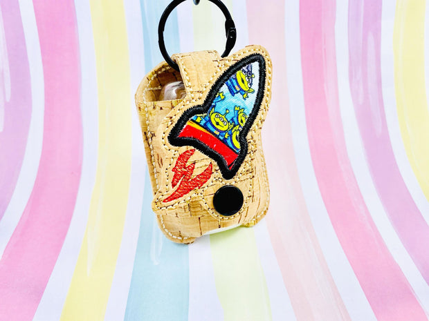 Space Shuttle 1oz Applique Sanitizer Holder