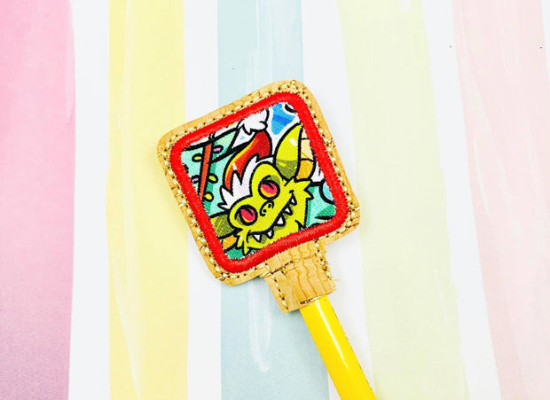 Rounded Square Applique Pencil Topper
