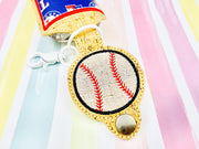 Sketchy Baseball 2oz Applique Sanitizer Holder