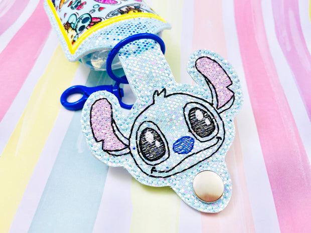 Space Critter Head 2oz Applique Sanitizer Holder