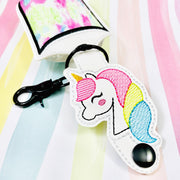 Sketchy Unicorn 2oz Applique Sanitizer Holder