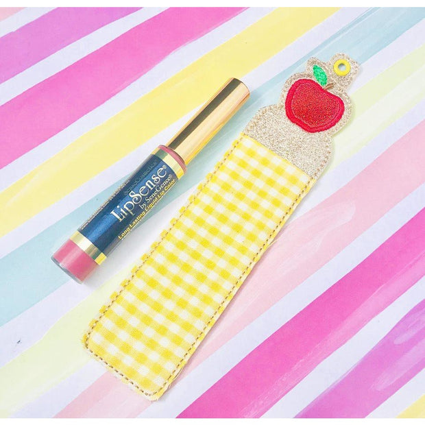 Apple Tall Lipstick Holder, 5x7 or larger hoop
