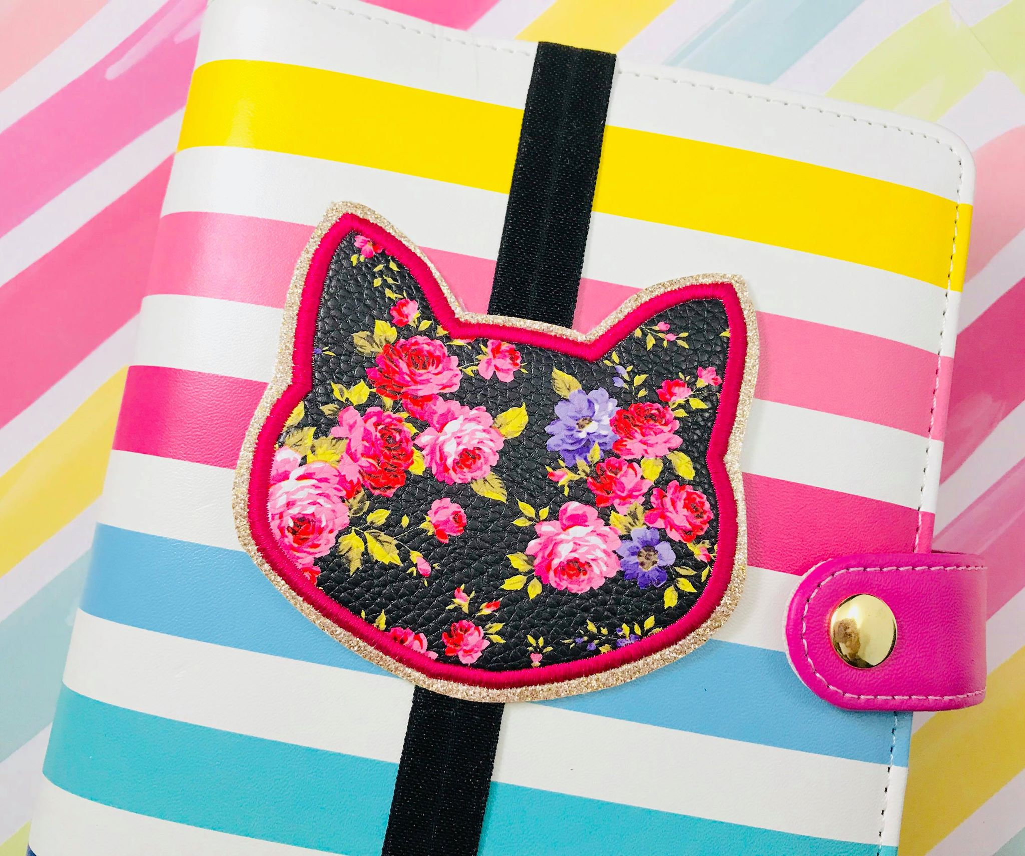 Cat Applique Planner Band