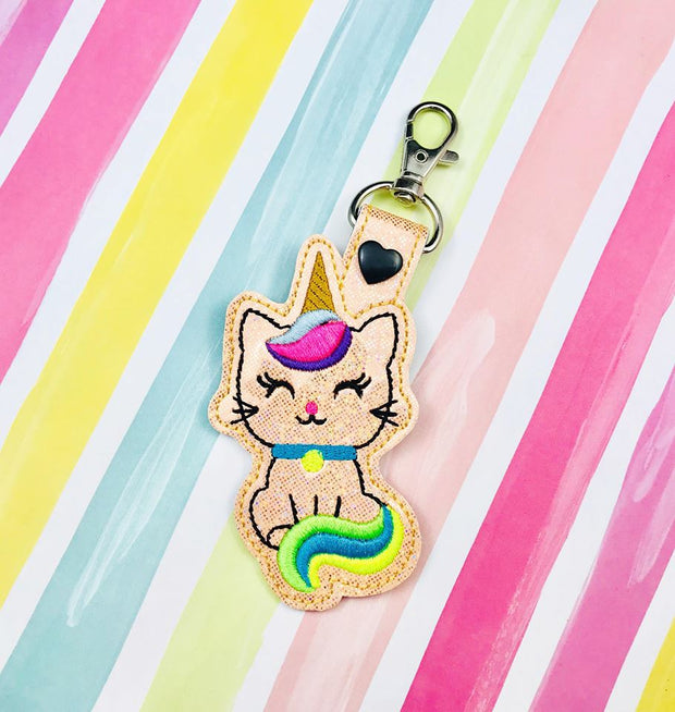 Kittycorn Cat Unicorn Snap Tab