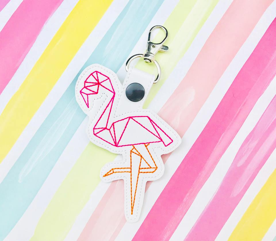 Flamingo Origami Snap Tab