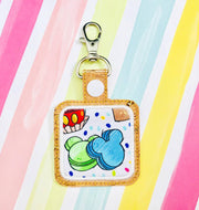 Small Rounded Square Applique Snap Tab Set