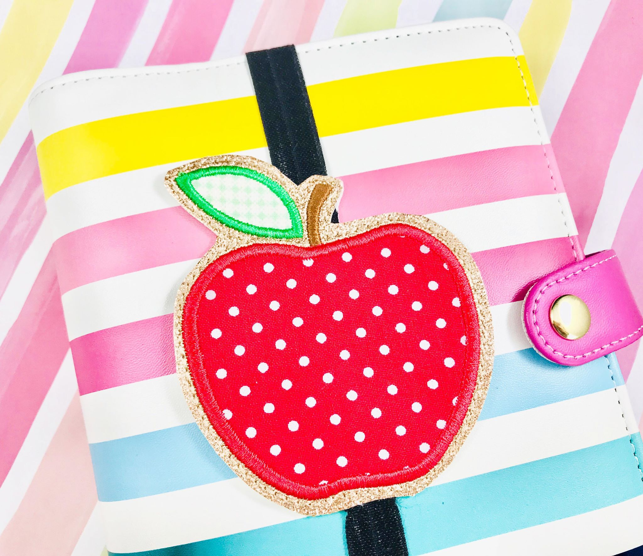 Apple Applique Planner Band
