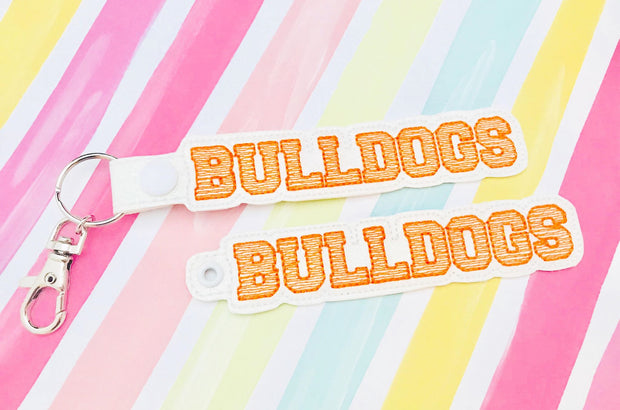 Bulldogs Snap Tab and Eyelet Set- Read Description