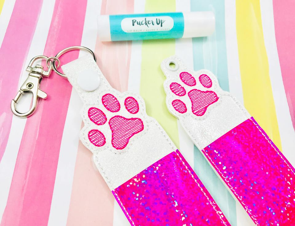 Sketchy Paw Print Lip Balm Holders