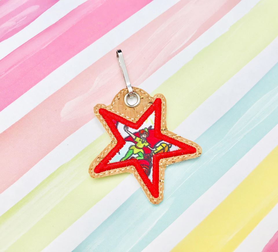 Star Applique Zipper Pulls