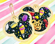 Fancy Mouse Applique Ornament 3