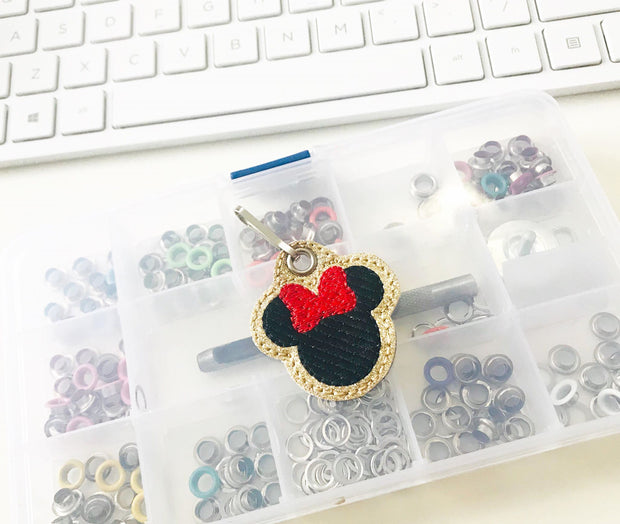 Bow Mouse Zipper Pulls