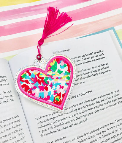 Heart Applique Bookmark