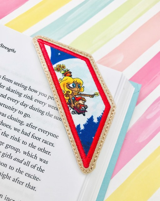 Corner Applique Bookmark 2