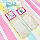 Square Applique Lip Balm Holder