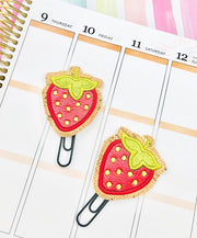 Strawberry Applique Paper Clip Design