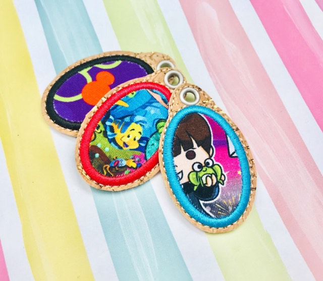 Oval Applique Zipper Pulls