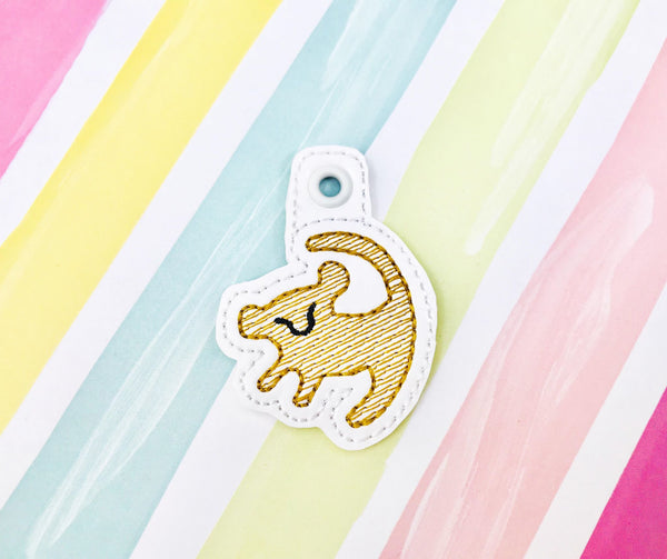 Sketchy Baby Lion Zipper Pulls