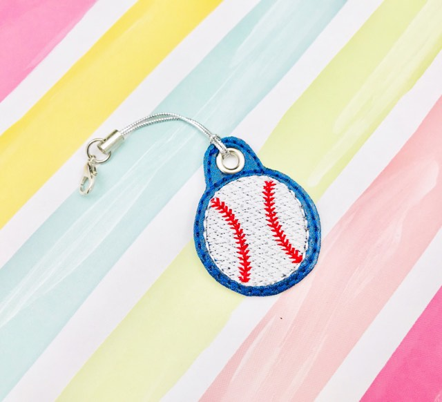 Baseball Zipper Pulls