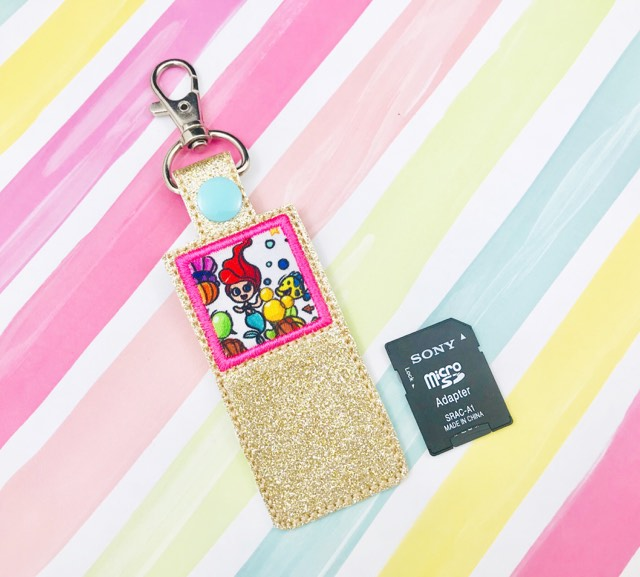 Square Applique SD Card Holder