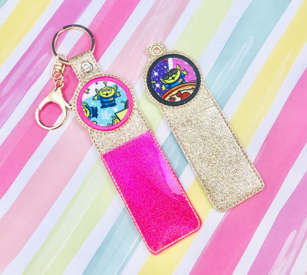 Circle Applique Lip Balm Holder