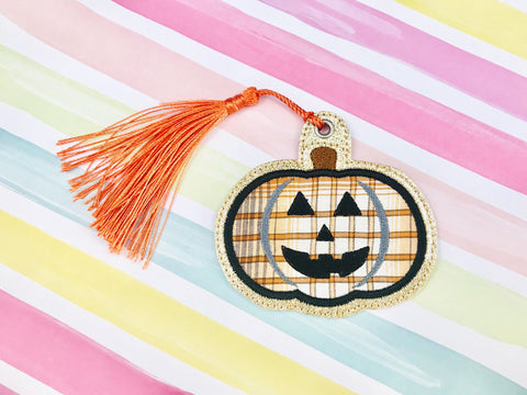 Applique Jackolantern Bookmark