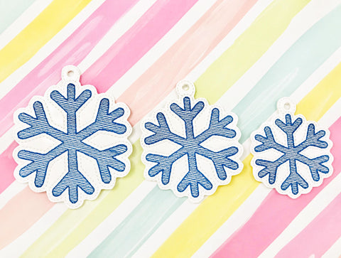 Sketchy Snowflake Ornament Set