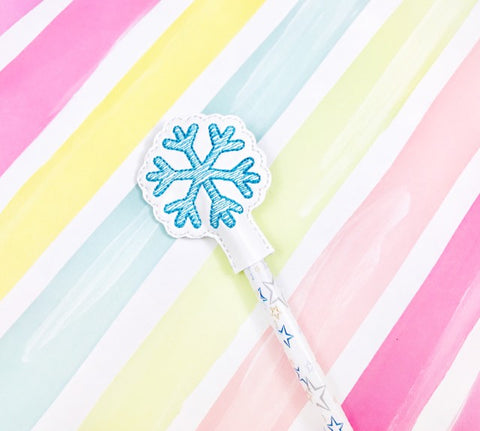 Sketchy Snowflake Pencil Topper