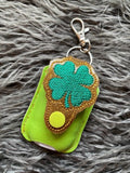 Fill Clover Applique Sanitizer Holder- Read Description