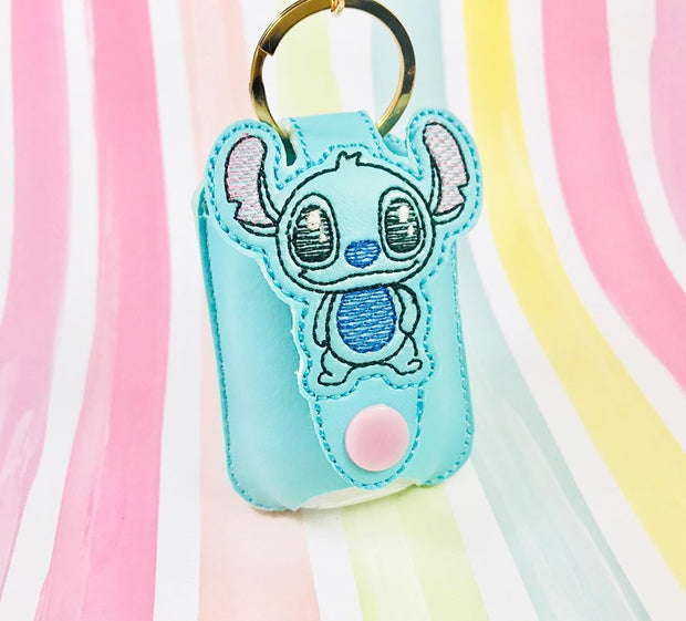 Sketchy Space Critter 1oz Applique Sanitizer Holder