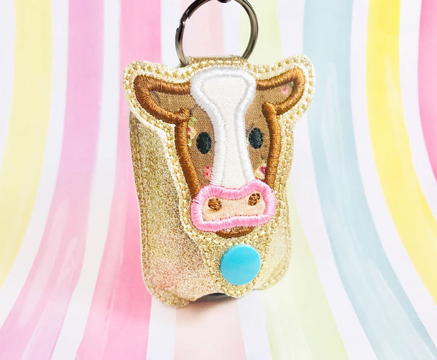 Cow Applique 1oz Sanitizer Holder