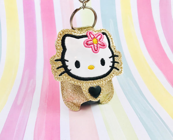H Kitty Applique Sanitizer Holder- Read Description
