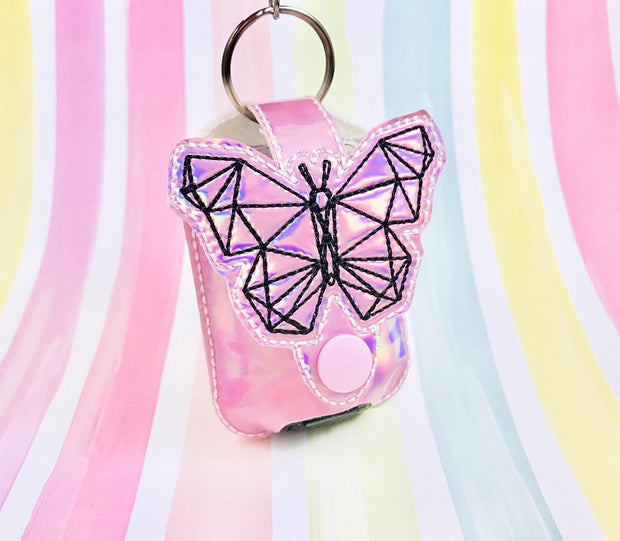 Geo Butterfly 1oz Applique Sanitizer Holder
