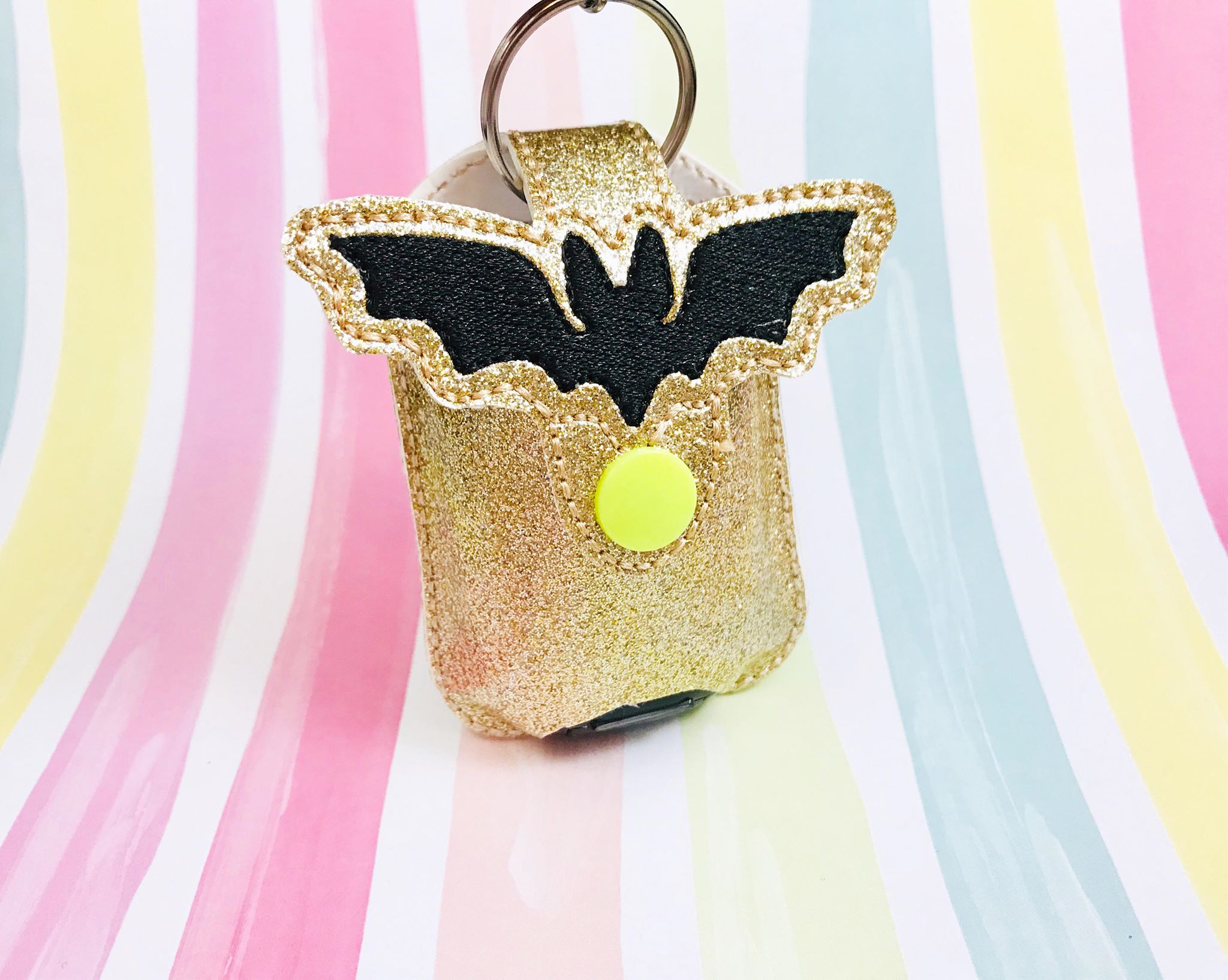 Bat Applique Sanitizer Holder- Read Description