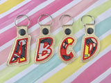 Complete Letter Alphabet Set 2 Applique Snap Tab
