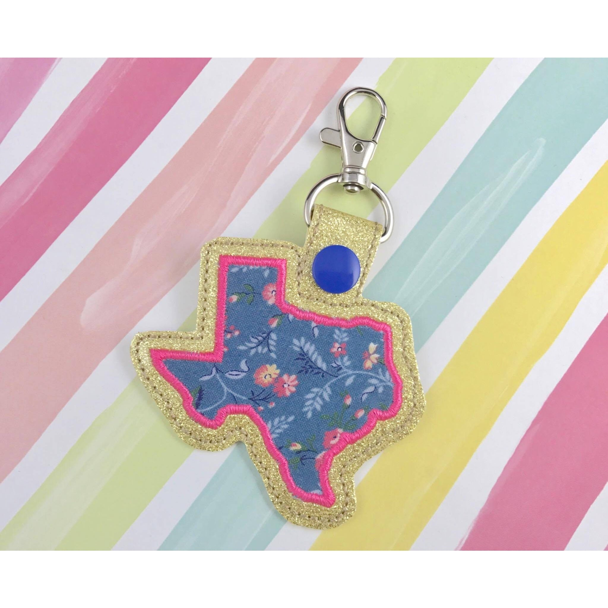 Texas Applique Snap Tab