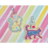 3 Cat Applique Set Snap Tabs