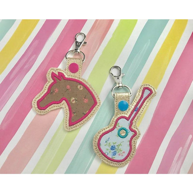 Horse Applique Snap Tab Set